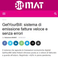 Rassegna Stampa GetYourBill | BitMAT 9 giugno 2021