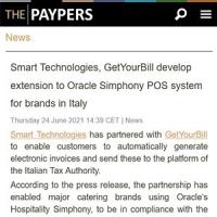 Rassegna Stampa GetYourBill & Smart Technologies | The Paypers 24 giugno 2021