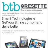 Rassegna Stampa GetYourBill & Smart Technologies | BTBoresette 24 giugno 2021