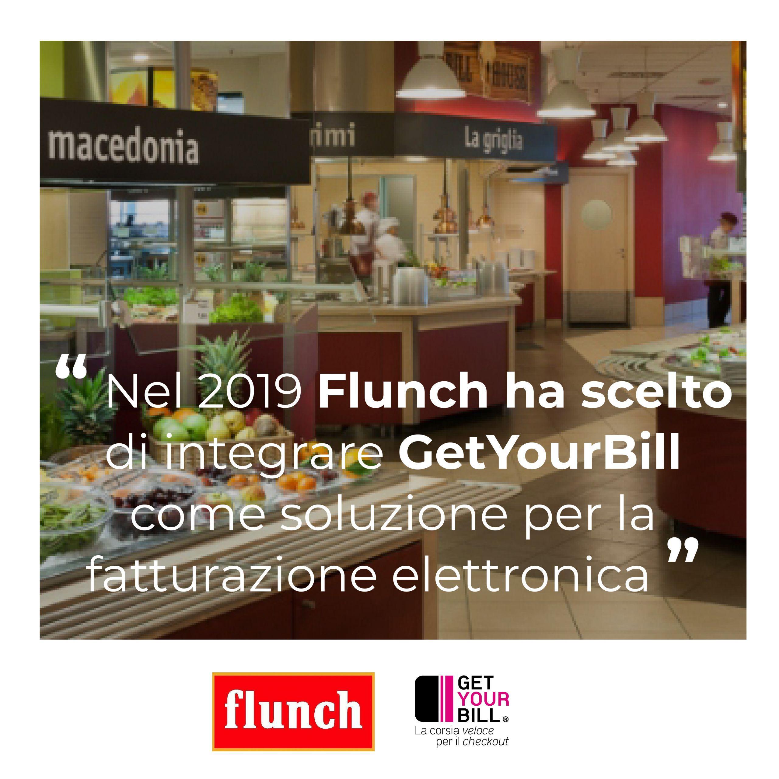 Post di Instagram sulla collaborazione tra Flunch e GetYourBill