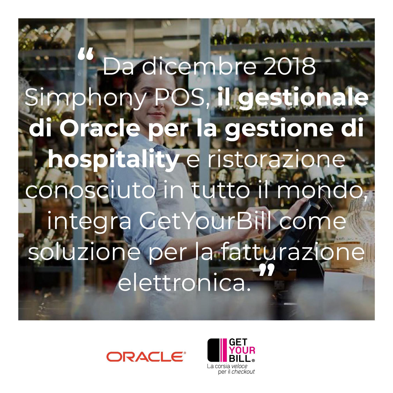 Post di Instagram sulla collaborazione tra Oracle e GetYourBill