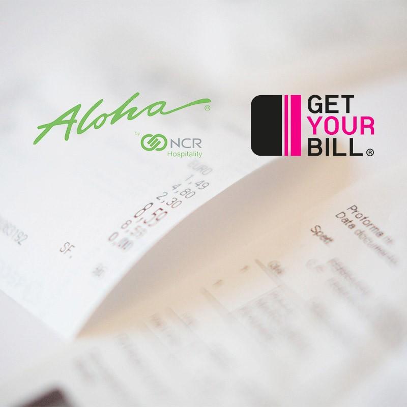 Aloha by NCR Hospitality in partnership con GetYourBill