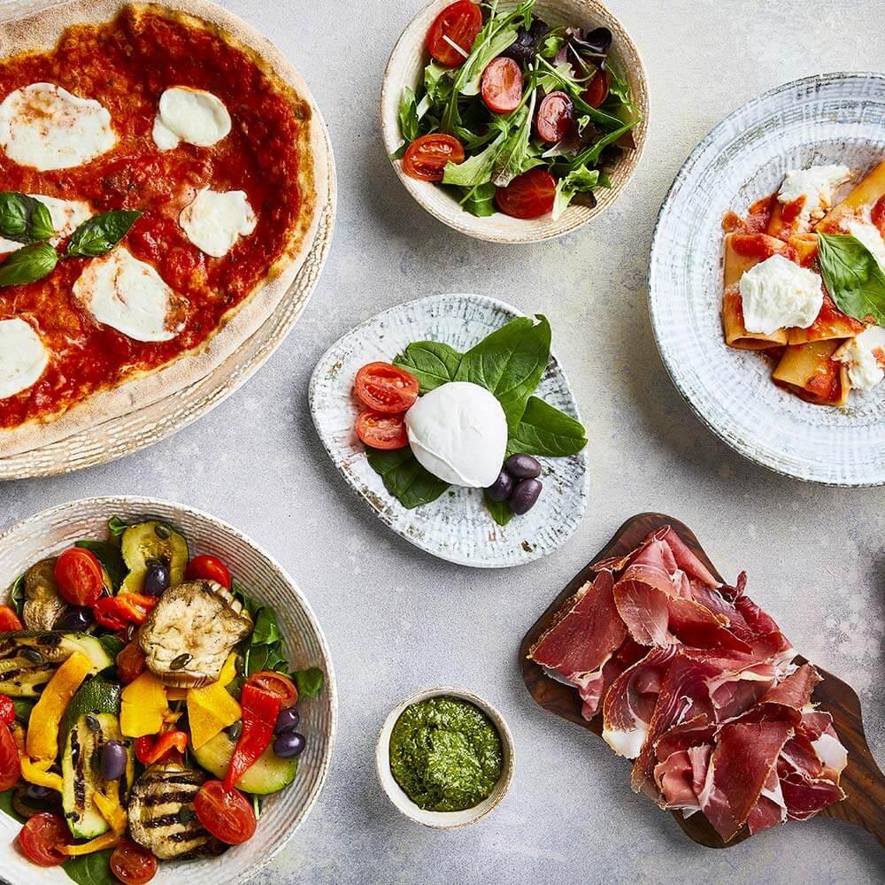 Immagine dei Prodotti di Obicà (Mozzarella di Bufala Campana DOP) per portare l'eccellenza della gastronomia italiana nel mondo