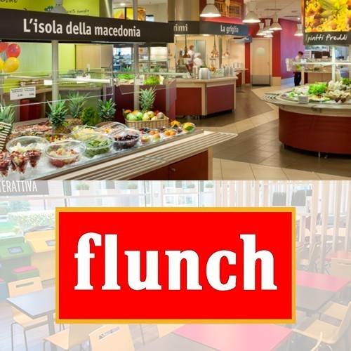 Uno dei ristoranti Flunch e logo Flunch