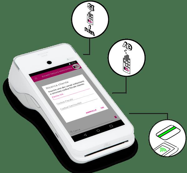 SmartPOS GetYourBill 3-in-1: fattura, scontrino, pagamenti elettronici