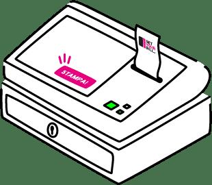Stampa la fattura elettronica dalla tua cassa con GetYourBill!