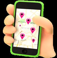 Lo Store Locator di GetYourBill funziona anche su smartphone
